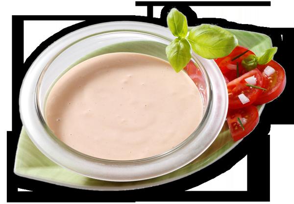 Salat-Dressing, rot